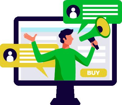 icona stilizzata web marketing blogging