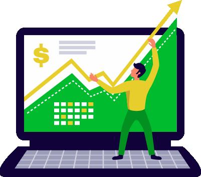 icona stilizzata web marketing e web design