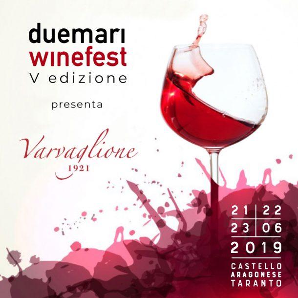 card grafica social cantine due mari winefest