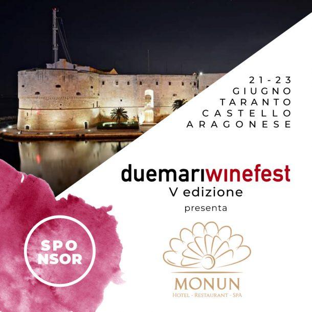 card grafica social sponsor due mari winefest